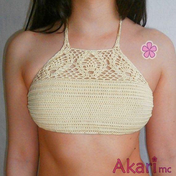2 patrones top bikini de ganchillo gratis por AkariCrochetPatterns