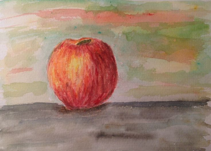Watercolour apple