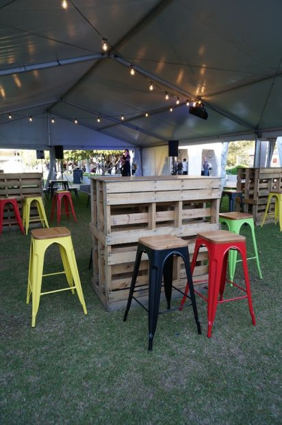 Pallet furniture at City Wine in Perth!  #citywine #perth #wine