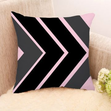 Sephora Black And Grey Stripes Cushion Cover