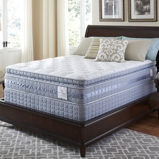 @Overstock - Serta Perfect Sleeper Majestic Retreat Super Pillowtop King-size Mattress and Foundation Set - Get a great night's sleep with this pillowtop king-size mattress from Serta. The plush fabric regulates your temperature overnight to prevent overheated spots that can lead to disturbed sleep, and the antimicrobial fiber gently cushions you as you ...