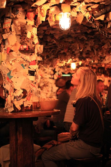 Budapest....Bar with a 1000 notes
