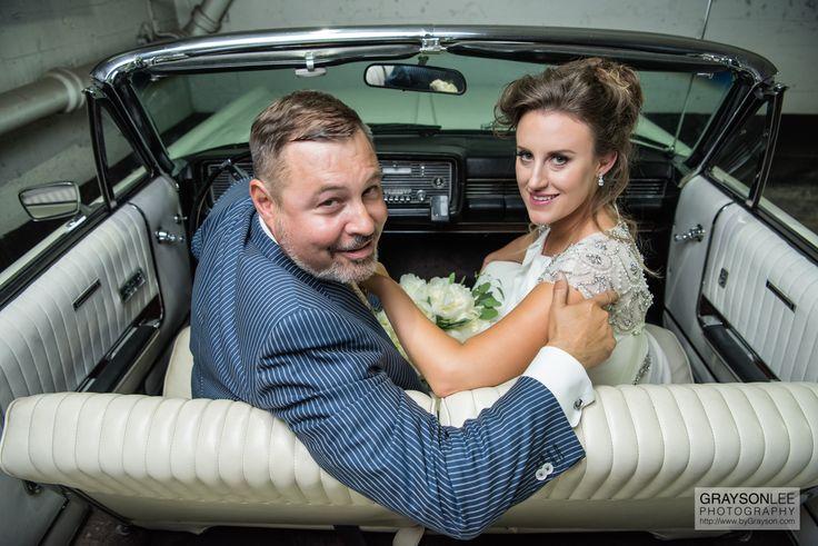A classic car and a classy couple!  Danielle and Matt.