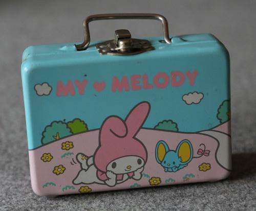 Vintage My Melody Japanese Hello Kitty Sanrio 1976 Small Metallic Box | eBay