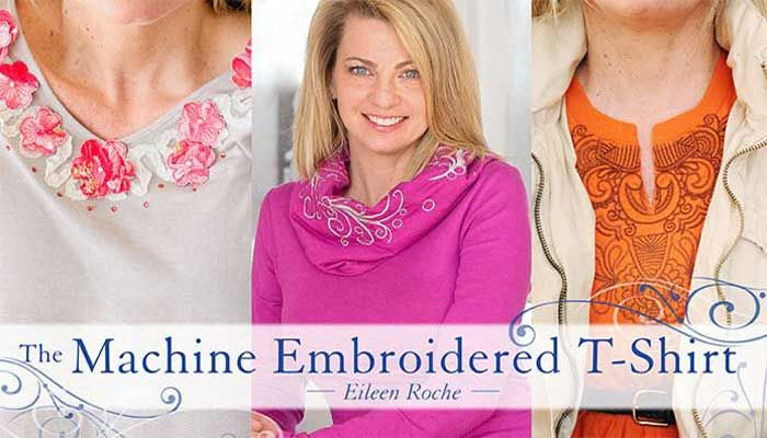 Transform your T-shirts from casual to chic with machine-embroidered embellishments.