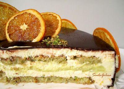 Torta chantilly al Grand Marnier, pistacchi e cioccolato