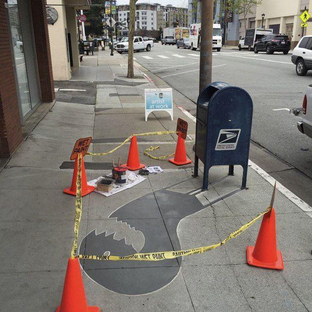 Best Street Art Images On Pinterest - Artist paints fake shadows onto sidewalks leaving people seriously confused
