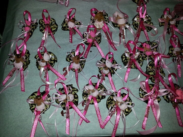 Baby Shower With Leopard Designs Pins Close Up