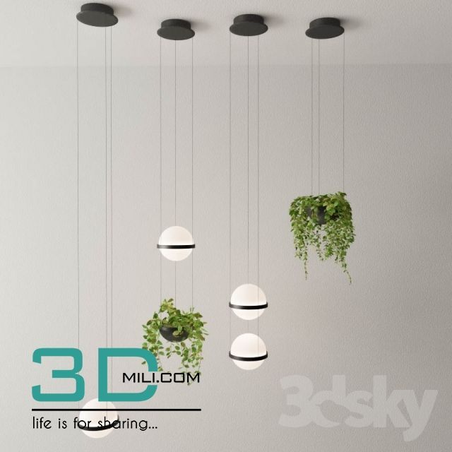 205 Plant 205 3dsmax Model Free Download Vibia Ceiling Lights Vibia Lighting