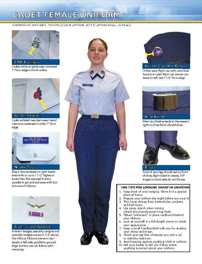 Cadet Female Uniform Civil air patrol, Cadet, Uniform