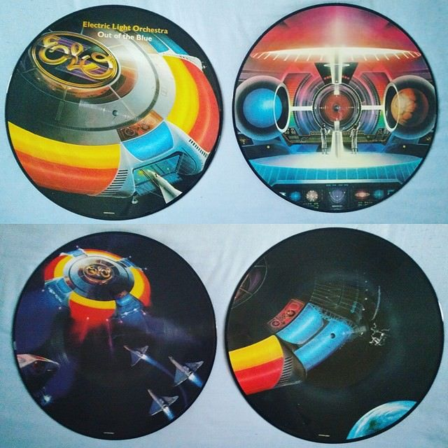 Got these beautiful 40th anniversary ELO picture disc LPs can't wait to finally see my favourite band when Jeff Lynne tours next year!