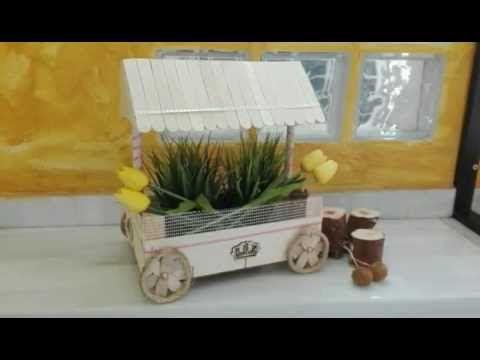 Carrito de chuches # 3 reciclando una caja de fresa - YouTube