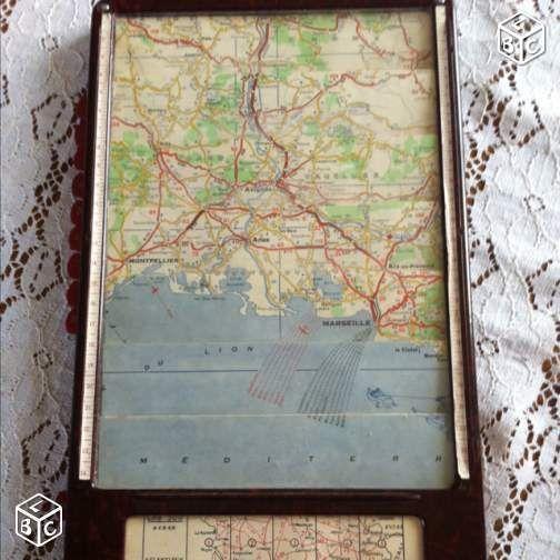 Carte routière météore 1940-50 france collector