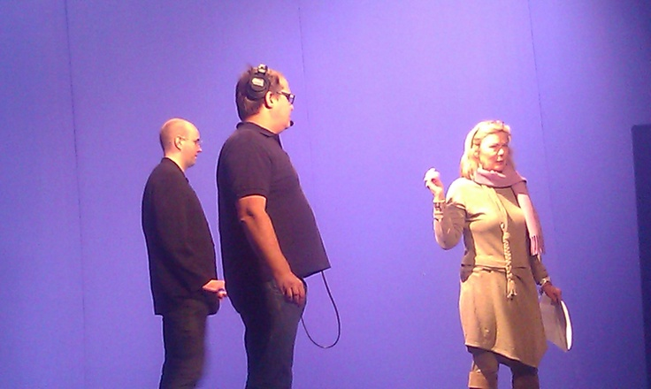 Tertta and the stage director giving some advice to The Beckmesser. Not that he listens...