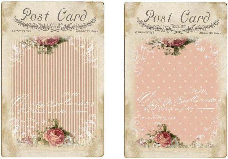 Colgar/etiquetas de regalo o titular de la joyería Rosas COTTAGE CHIC imagen (817-B)