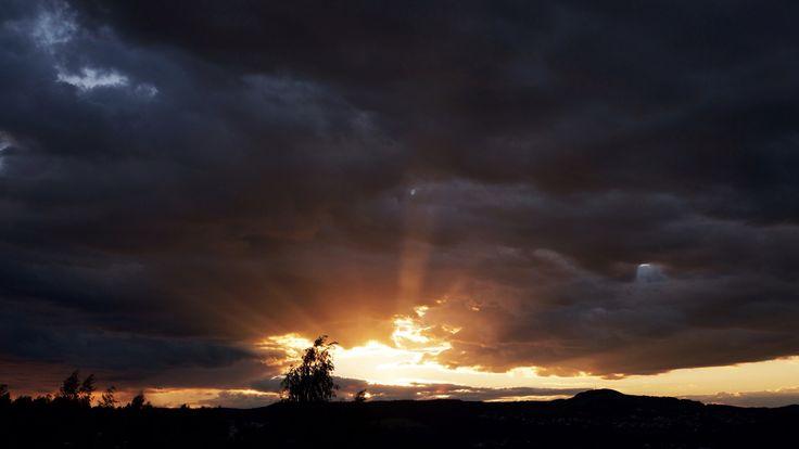 Solnedgang i Trollstien