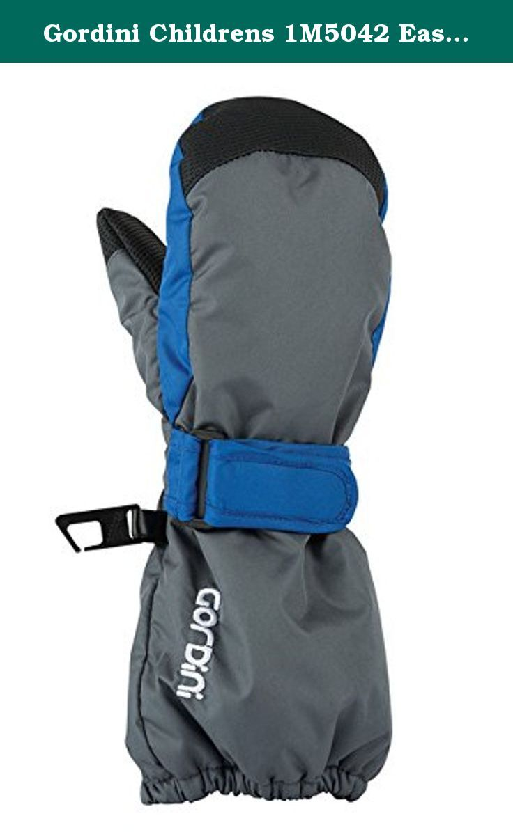 Gordini Childrens 1M5042 Easy On Mitten, Gunmetal Olympic Blue - XS. Gordini has been in the outdoor business since 1956 and has been striving to create products to keep your body's heat production and heat loss in perfect balance. Their team of winter sports enthusiasts based in Vermont and Canada will settle for nothing less than perfection when it comes to creating quality and functional products that combine proven natural materials with the latest in synthetic technology. The result…