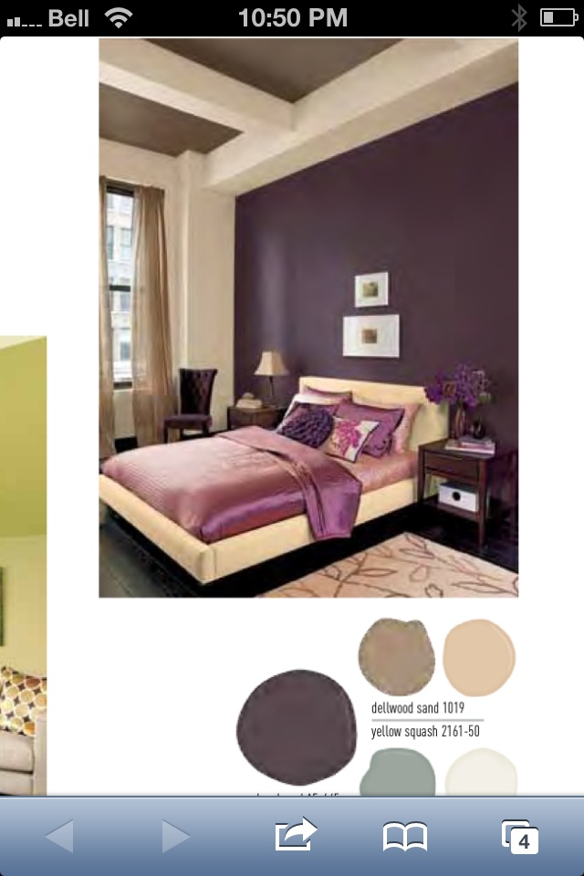 Colours we used for our master bedroom