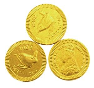 chocolate trading co gold farthing chocolate coins bag of 100 gold farthing chocolate coins made