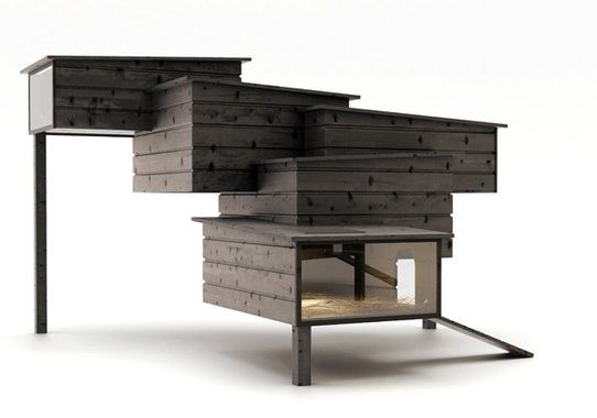If Frank Lloyd Wright built a coop to complement his masterpiece, Fallingwater, it would look like this.