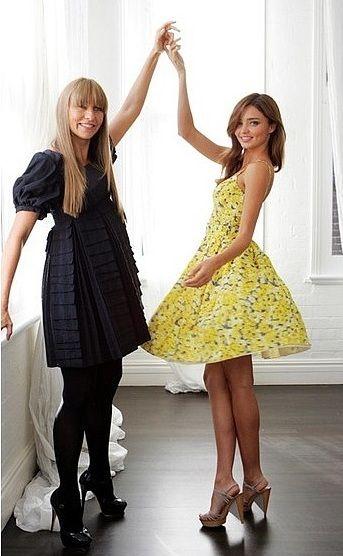 Miranda Kerr spinning for Australian fashion designer Collette Dinnigan.