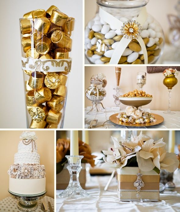 White and Gold Winter Wedding