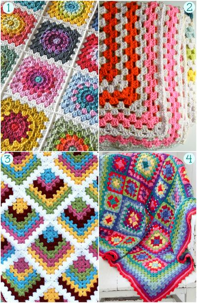 Granny Crochet: 20 Project Ideas and Free Patterns - Craftfoxes •✿• Teresa Restegui http://www.pinterest.com/teretegui/ •✿•