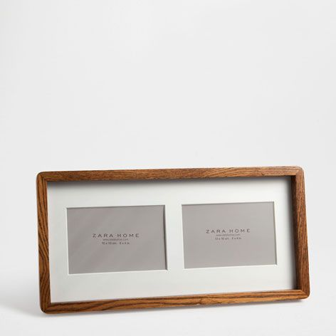 Double Wooden Frame   This Week   New Arrivals   Zara Home Greece