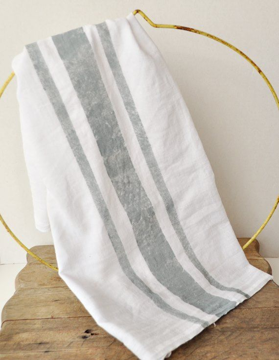 How to stripe flour sack towels from Wal-Mart to look like French linen.