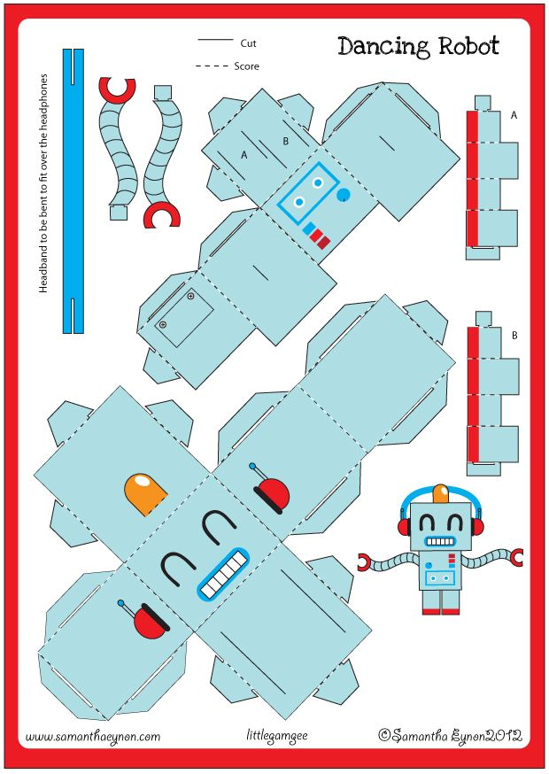 Samantha Eynon - Robot Paper Toy Downloads