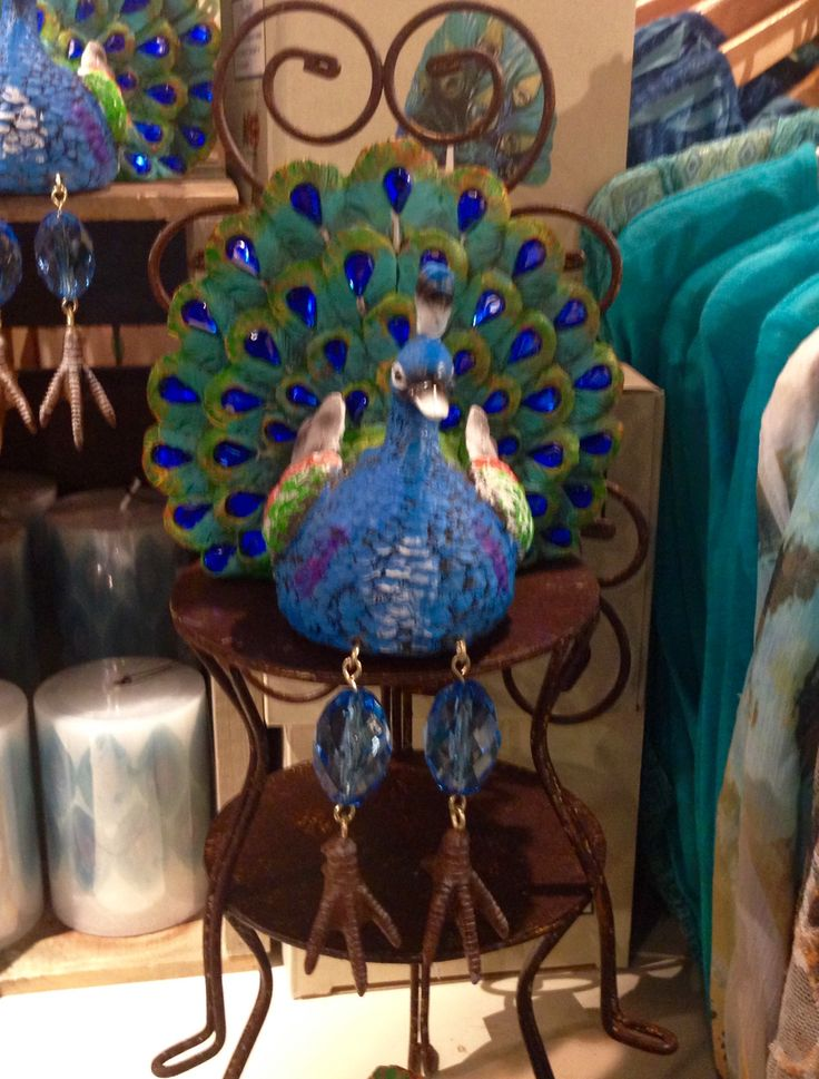 Beaded Peacock Quot Shelf Sitter Quot With Dangly Legs Cracker