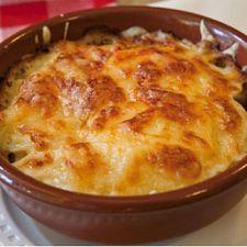 Cheesy Potatoes   (sub sour cream, onion powder and salt for french onion dip)