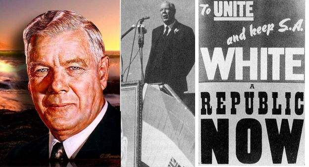 Dr. H.F. Verwoerd, the Dutch-born National Party Prime Minister, who is widely, but incorrectly, credited with creating apartheid.