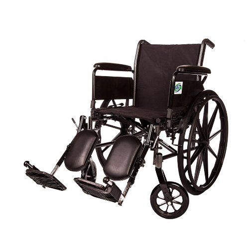 This is an excellent wheelchair. The only problem we experienced so far may not be entirely the fault of the chair. We have carpet in most of our house. The front wheels do not pivot on carpet very well. Otherwise, we are very pleased. I am pretty sure most anyone would have such difficulty.