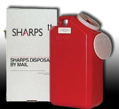 Sharps 3 Gallon Disposal Container w/ Free Mail System: 700-720 - 1cc syringes >>> Details can be found by clicking on the image.