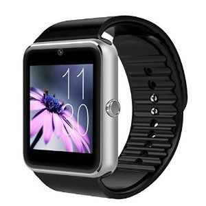 Witmood Gt08 Smartwatch Quadband Wrist Watch Phone Sim MTK6261 With NFC Bluetooth 3.0 mp3 Player Samsung HTC LG(Full Functions) IOS iPhone 5/5s/6/plus(Partial functions) (sliver)