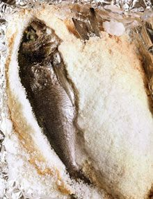 Whole bream baked in coarse salt (Dorada a la sal) - the best way to cook this fish: it comes out moist and bursting with flavour.
