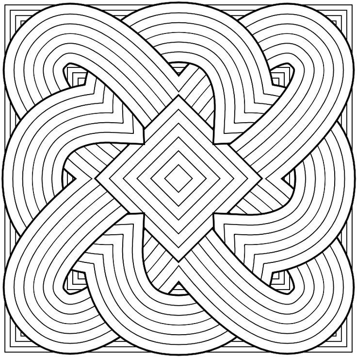 pattern coloring pages for teens - photo#13