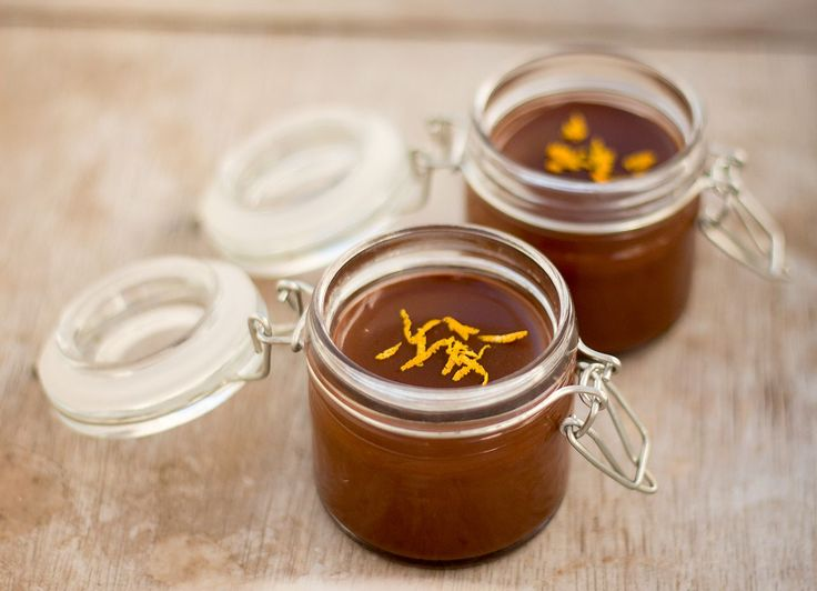 Only four ingredients: chocolate, sugar, vanilla and oranges