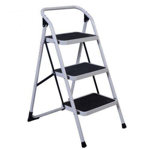 folding chair rubber feet cover rentals wisconsin onestops8 portable 3 step lightweight ladder platform kitchen stool
