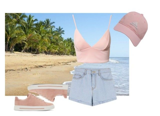 """""""Прогулка по пляжу"""" by vieen on Polyvore featuring мода, Dark Pink, Marc by Marc Jacobs и adidas Golf"""