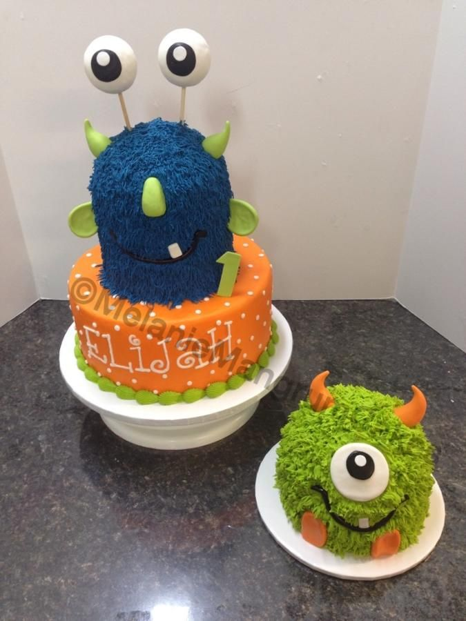 Monster First Birthday - Cake by Melanie Mangrum