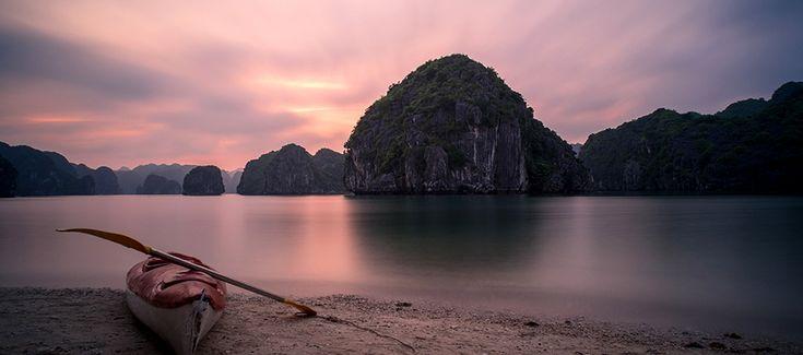 Kayaking at the Lan Ha Bay. #vietnam #halongbay #kayaking #travel #wander