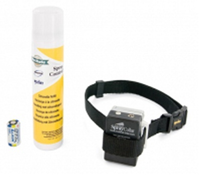 Citronella Barking Dog Collar - The Innotek citronella barking Dog Collar is a Spray Bark Collar also known as an anti-bark spray collar uses a small spray of citronella to help stop a dog barking. Formerly known as a Multi Vet spray bark collar. www.thedogline.com.au