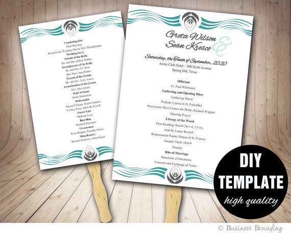 fan wedding programs