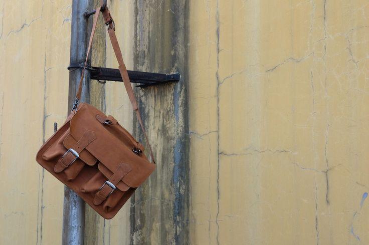 Brief case leather