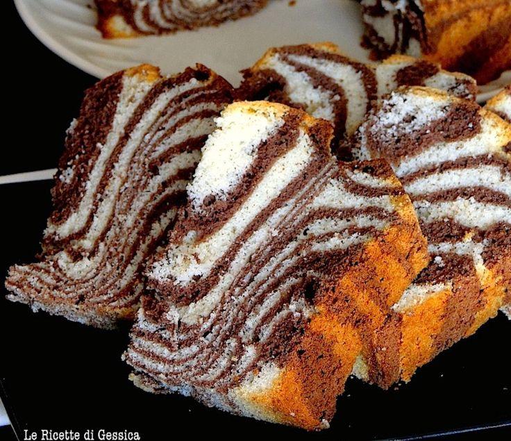 Ricetta e Tutorial per preparare con il Bimby ma anche senza il ciambellone americano zebrato. Zebra chiffon cake. Dolce Senza burro, light soffice e Alto.