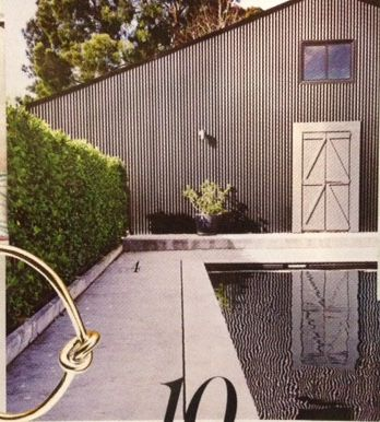Pool surround - concrete (including hedge)