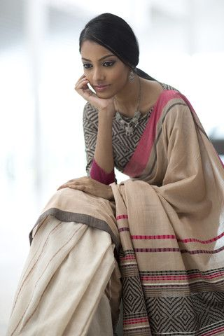 #Saree in Neutrals