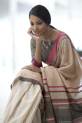 #Saree in Neutrals